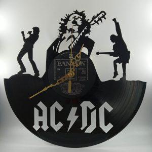 Hodiny z platne - AC/DC