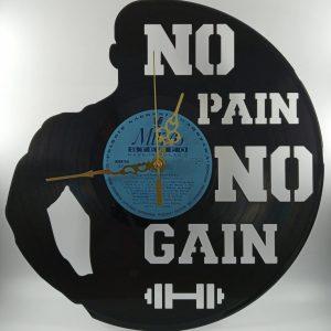 Hodiny z platne - Kulturista - No pain no gain