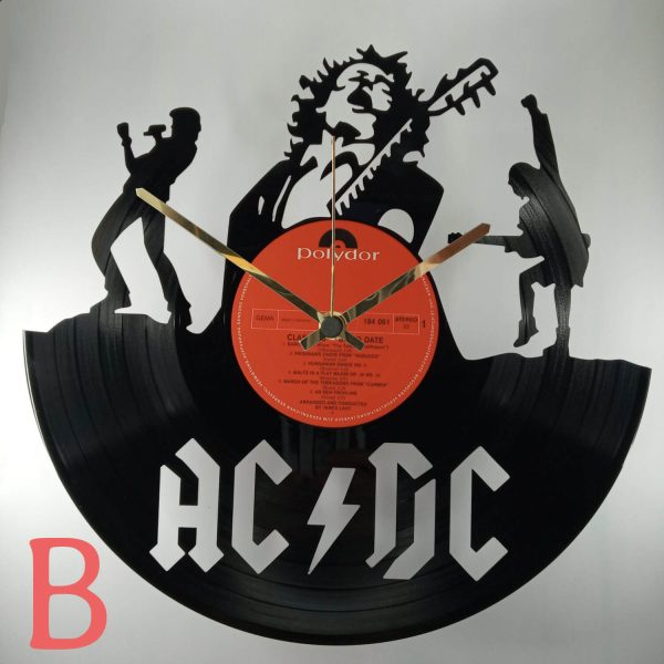 Hodiny AC DC vinyl