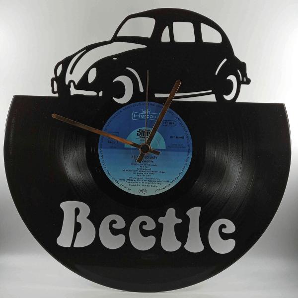 Hodiny z platne - Beetle auto