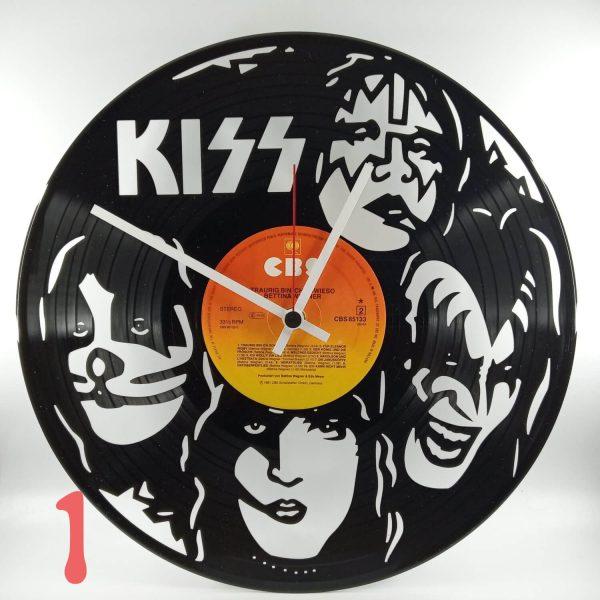 Kiss hodiny vinyl