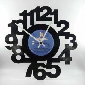 vinylové hodiny čísla